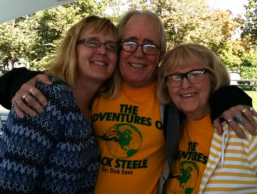 dick and norma enos with ann at iowa author fest