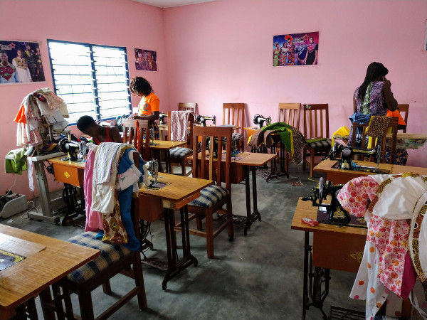 women's training center sewing room